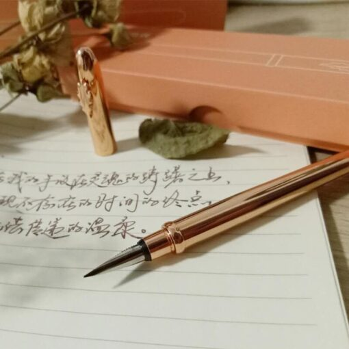 2020 New Rose Gold Fashion Fountain Pen Converter Pen Fine Nib 0 5mm Office School Stationery 1