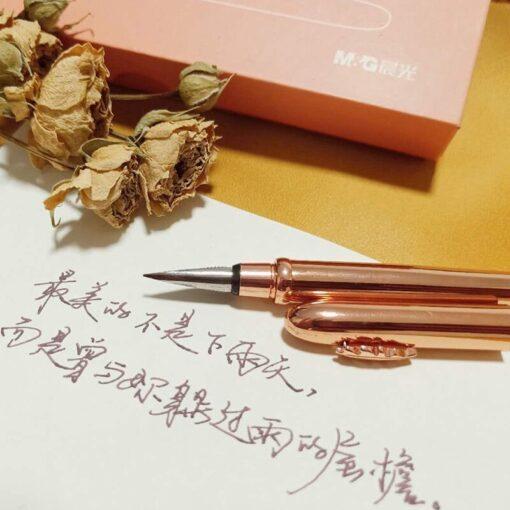 2020 New Rose Gold Fashion Fountain Pen Converter Pen Fine Nib 0 5mm Office School Stationery 2