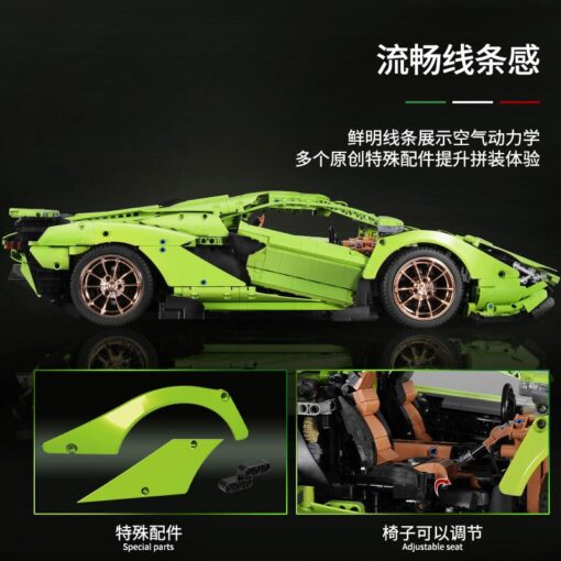 2020 New Technic Lamborghinis RC Car SIAN FKP37 Roadster Model Kits Building Blocks Bricks super Sports 2