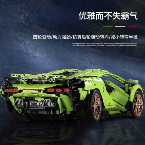 2020 New Technic Lamborghinis RC Car SIAN FKP37 Roadster Model Kits Building Blocks Bricks super Sports 3