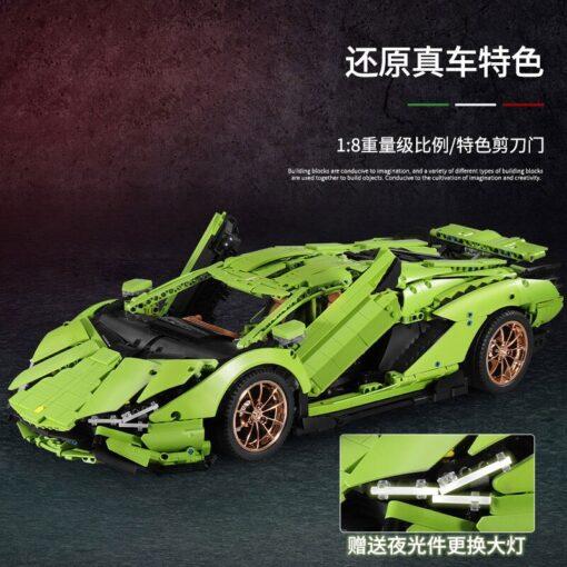 2020 New Technic Lamborghinis RC Car SIAN FKP37 Roadster Model Kits Building Blocks Bricks super Sports 4