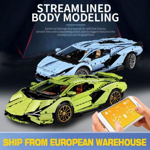 2020 New Technic Lamborghinis RC Car SIAN FKP37 Roadster Model Kits Building Blocks Bricks super Sports