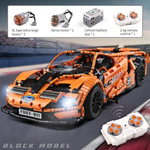 2020 New Technic series Super Racing Car model sets Building block Assemble bricks kids Educational DIY 5