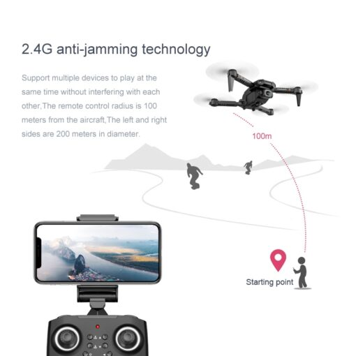 2020 New XT6 Mini 4K Drone HD Double Camera WiFi Fpv Air Pressure Altitude Hold Foldable 3