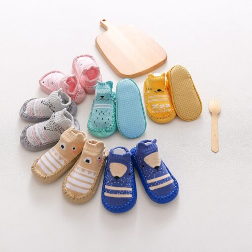 2020 New born Baby Socks With Rubber Soles Infant Baby Girls Boys Shoes Spring Autumn Baby 1