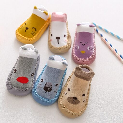 2020 New born Baby Socks With Rubber Soles Infant Baby Girls Boys Shoes Spring Autumn Baby 2