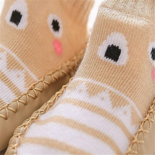 2020 New born Baby Socks With Rubber Soles Infant Baby Girls Boys Shoes Spring Autumn Baby 4