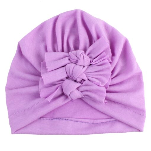 2020 Newborn Toddler Baby Girls Solid color Turban Lovely Indian knot Turban Headband Hair Accessories Baby 1
