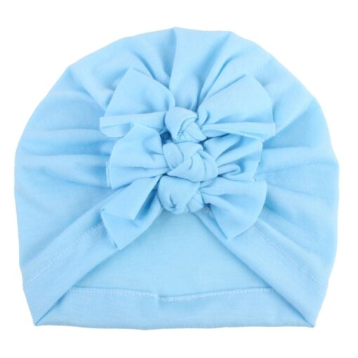 2020 Newborn Toddler Baby Girls Solid color Turban Lovely Indian knot Turban Headband Hair Accessories Baby 2