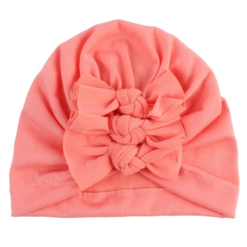 2020 Newborn Toddler Baby Girls Solid color Turban Lovely Indian knot Turban Headband Hair Accessories Baby 4