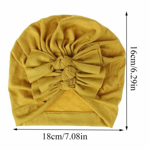2020 Newborn Toddler Baby Girls Solid color Turban Lovely Indian knot Turban Headband Hair Accessories Baby 5