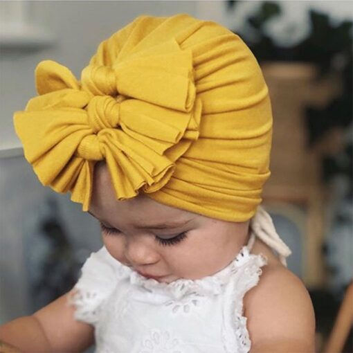 2020 Newborn Toddler Baby Girls Solid color Turban Lovely Indian knot Turban Headband Hair Accessories Baby