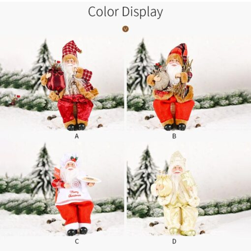 2020 Santa Claus Doll Christmas Ornament Merry Christmas Decorations For Home Xmas Table Decor Navidad Natal 10