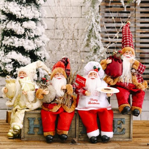 2020 Santa Claus Doll Christmas Ornament Merry Christmas Decorations For Home Xmas Table Decor Navidad Natal 4