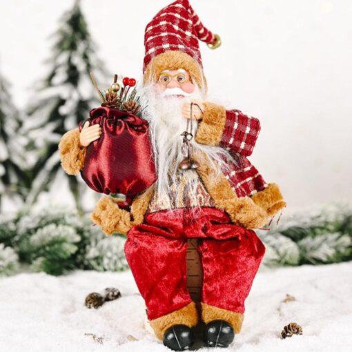 2020 Santa Claus Doll Christmas Ornament Merry Christmas Decorations For Home Xmas Table Decor Navidad Natal 6