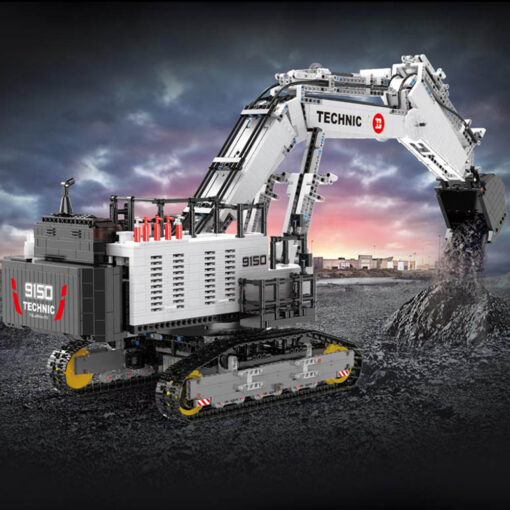2020 Technic Car Model Compatible With 42100 Liebherrs R 9800 Excavator Building Blocks Bricks Toys Christmas 1