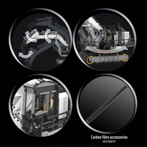 2020 Technic Car Model Compatible With 42100 Liebherrs R 9800 Excavator Building Blocks Bricks Toys Christmas 3