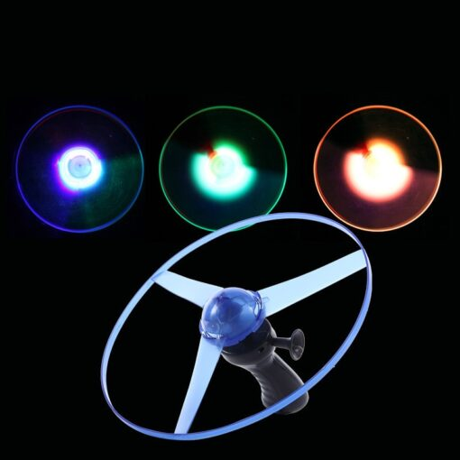 2020 hot sale 1pc Fun outdoor sports pull line saucer toys LED lighting UFO parent child 2