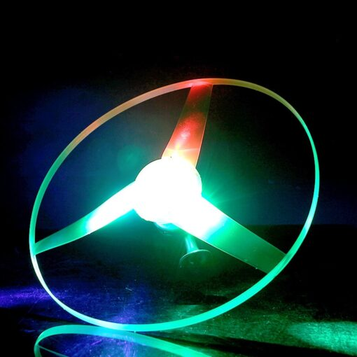 2020 hot sale 1pc Fun outdoor sports pull line saucer toys LED lighting UFO parent child 5