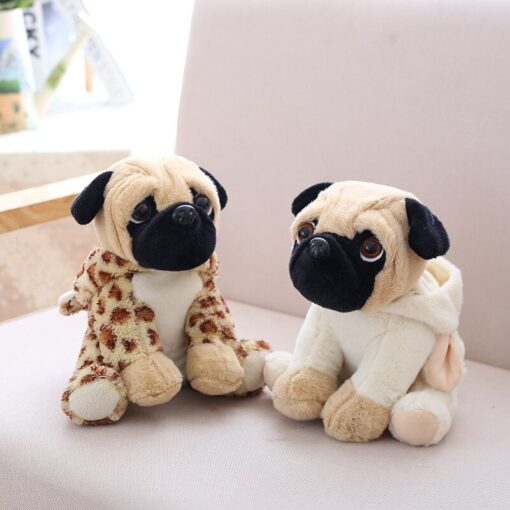 20CM Lovely Puppy Pet Toy Plush Animal Toy Stuffed Simulation Dogs Plush Sharpei Pug Children Kids 5