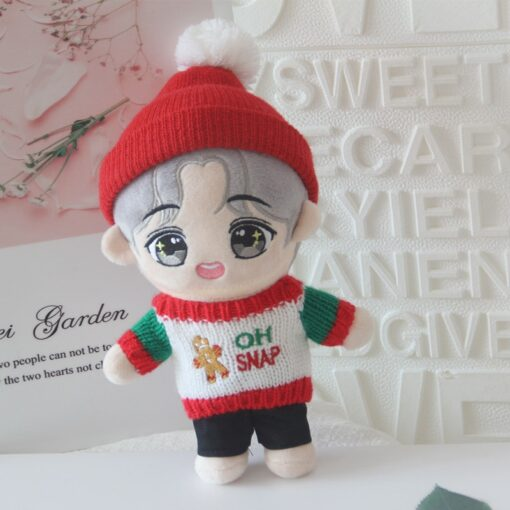 20cm Korea Kawaii Cartoon V Plush Dolls Toys Plush Stuffed Doll Superstar Cute With Clothes Toy 2