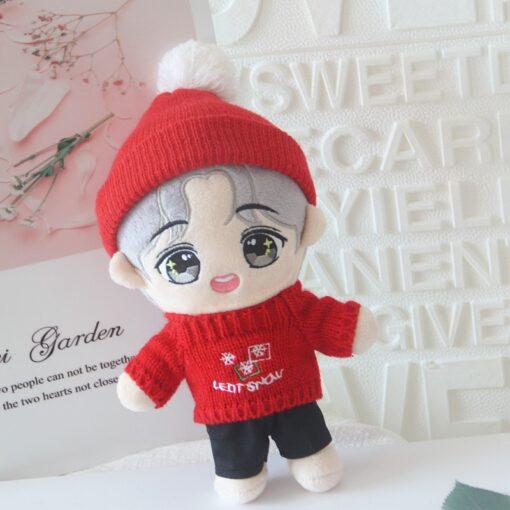 20cm Korea Kawaii Cartoon V Plush Dolls Toys Plush Stuffed Doll Superstar Cute With Clothes Toy 3
