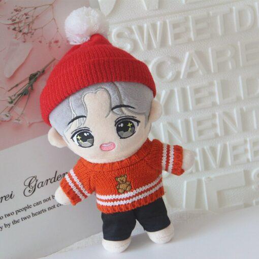 20cm Korea Kawaii Cartoon V Plush Dolls Toys Plush Stuffed Doll Superstar Cute With Clothes Toy 4