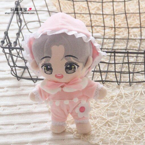 20cm Korea Kawaii Cartoon V Plush Dolls Toys Plush Stuffed Doll Superstar Cute With Clothes Toy