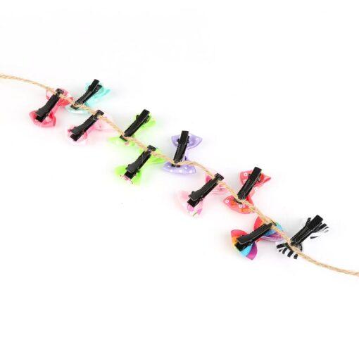 20pcs lot Lovely Hair Clip Cartoon Candy Color Hairpins Rainbow Hair Clip for Girl Kids Children 4