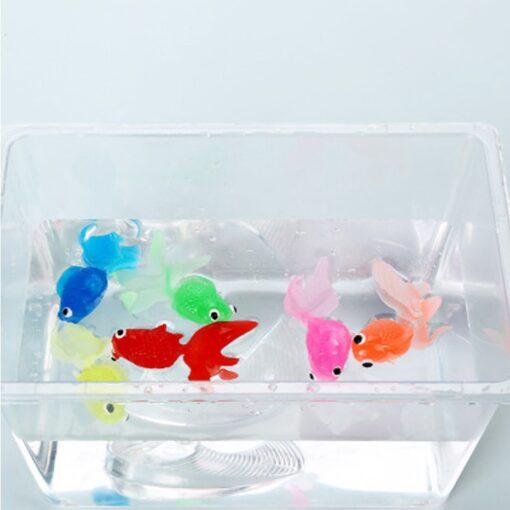 20pcs set Kids Soft Rubber Gold Fish Baby Bath Toys for Children Mini Goldfish for The 2