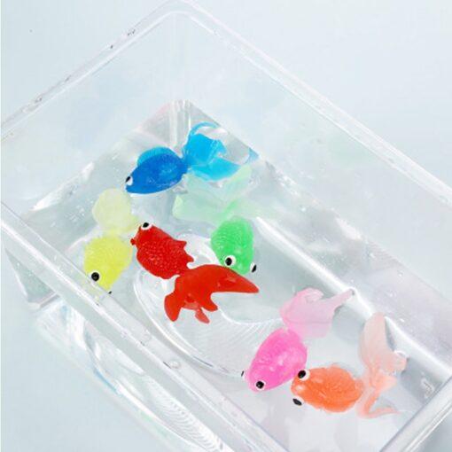 20pcs set Kids Soft Rubber Gold Fish Baby Bath Toys for Children Mini Goldfish for The