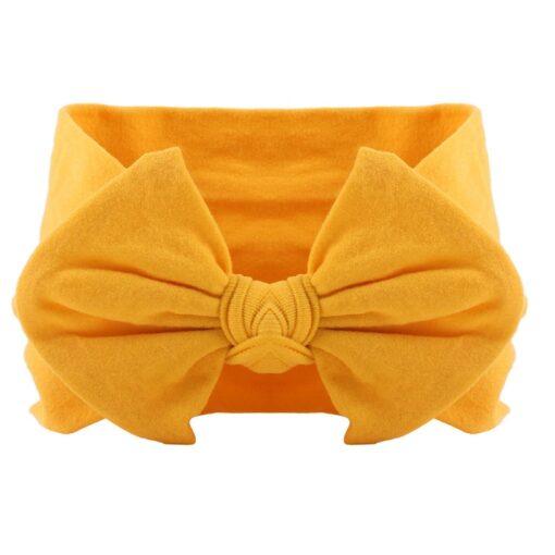 21 Colors Nylon Headband for Baby Girls Baby Boys Soft Bow Knot Turban Hair Bands Baby 2