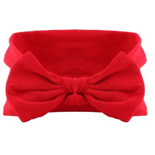 21 Colors Nylon Headband for Baby Girls Baby Boys Soft Bow Knot Turban Hair Bands Baby 4