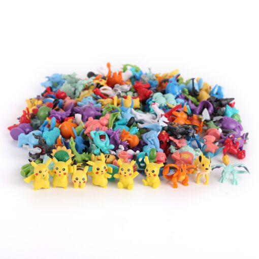 21styles PokeBalls with 2 3cm mini figure Inside 7cm Elf Ball Toys For Children Pokemoned Pikachu 2