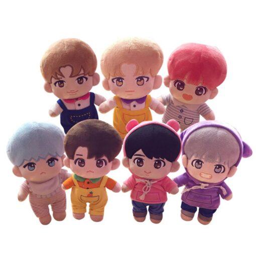 23cm Kawaii Korea Cartoon Plush Dolls Toys Plush Stuffed Doll Superstar Cute With Clothes Toy Gifts 1