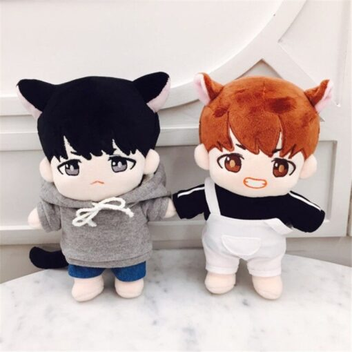 23cm Kawaii Korea Cartoon Plush Dolls Toys Plush Stuffed Doll Superstar Cute With Clothes Toy Gifts 3