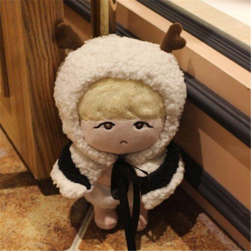 23cm Kawaii Korea Cartoon Plush Dolls Toys Plush Stuffed Doll Superstar Cute With Clothes Toy Gifts 4