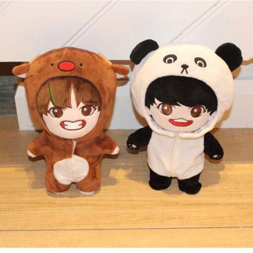 23cm Kawaii Korea Cartoon Plush Dolls Toys Plush Stuffed Doll Superstar Cute With Clothes Toy Gifts 5