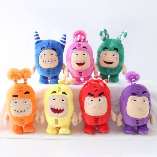 23cm Oddbods Fuse Bubbles Newt Pogo Slick Jeff Bubbles Zee Plush Stuffed Toys Cute Cartoon Anime