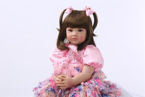 24 Silicone Reborn Toddler Baby Doll Toys 60cm Princess Girl Like Alive Bebe Girls Brinquedos Limited 1