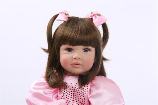 24 Silicone Reborn Toddler Baby Doll Toys 60cm Princess Girl Like Alive Bebe Girls Brinquedos Limited 2