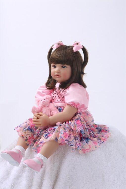 24 Silicone Reborn Toddler Baby Doll Toys 60cm Princess Girl Like Alive Bebe Girls Brinquedos Limited 3