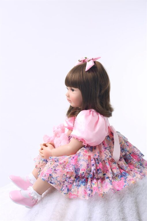 24 Silicone Reborn Toddler Baby Doll Toys 60cm Princess Girl Like Alive Bebe Girls Brinquedos Limited 4