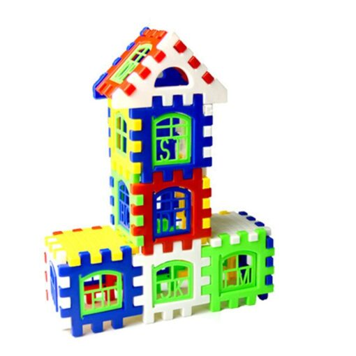 24pcs lot DIY Plastic Interlocking Building Blocks Construction House Playset Early Educational Enlightenment Toy for Children 1