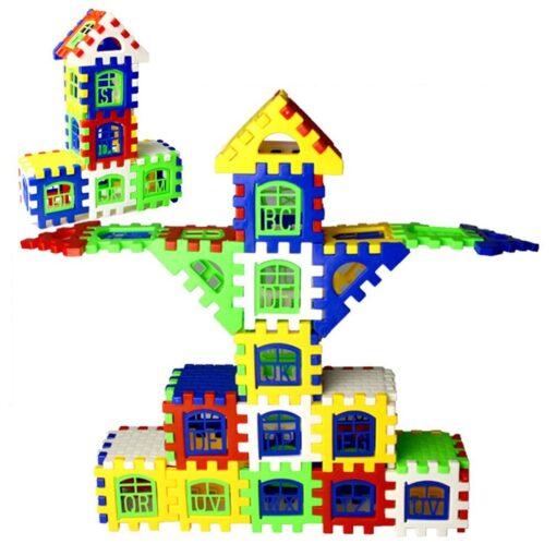 24pcs lot DIY Plastic Interlocking Building Blocks Construction House Playset Early Educational Enlightenment Toy for Children 2