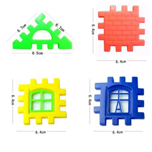 24pcs lot DIY Plastic Interlocking Building Blocks Construction House Playset Early Educational Enlightenment Toy for Children 5
