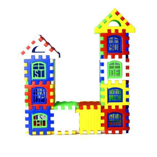 24pcs lot DIY Plastic Interlocking Building Blocks Construction House Playset Early Educational Enlightenment Toy for Children