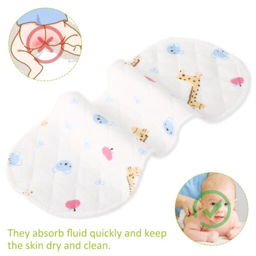 25pcs Reusable Infant Nappy Inserts Washable Cloth Diapers Soft Peanut Shaped 3 layer Baby Nappy Water 4