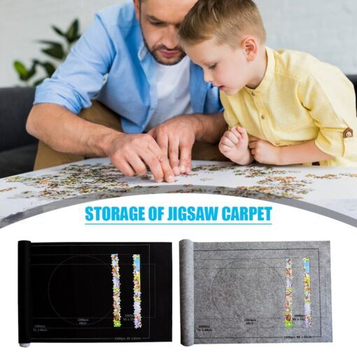 26x46 inch Puzzle Matte F r Puzzle Roll Up Jigsaw Felt Playmat for Up to 1500pcs 1