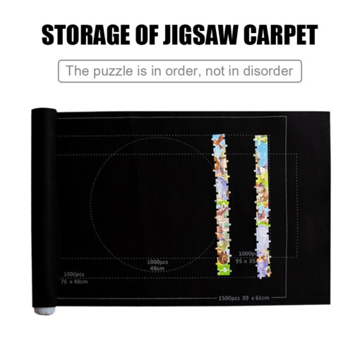 26x46 inch Puzzle Matte F r Puzzle Roll Up Jigsaw Felt Playmat for Up to 1500pcs 2